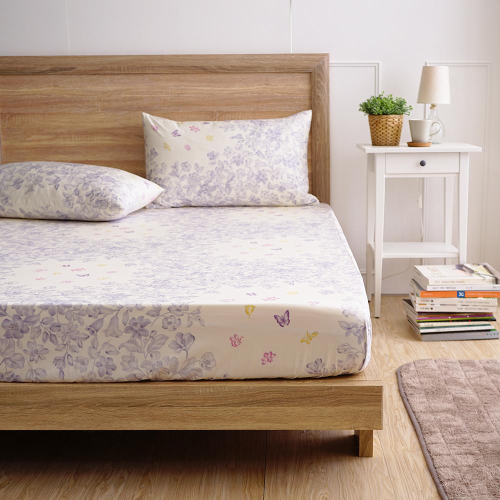 MONTAGUT-夢幻花園-300織紗精梳棉三件式床包組(雙人)