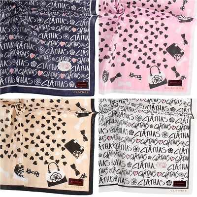 [時時樂]CLATHAS甜美繽紛純棉帕巾小領巾-5款