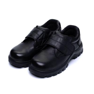 COMBAT艾樂跑男鞋-皮質工作鞋 鋼頭鞋-黑(FA493)