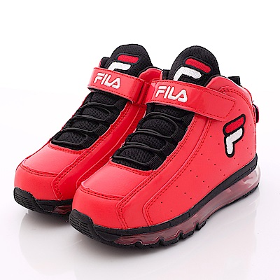 FILA頂級童鞋款 護足機能款 EI61P201紅黑(小童段)0
