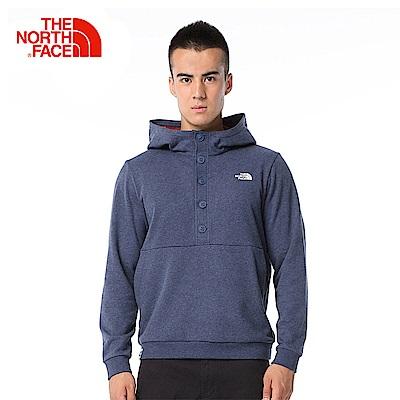 The North Face北面男款藍色保暖舒適休閒T恤