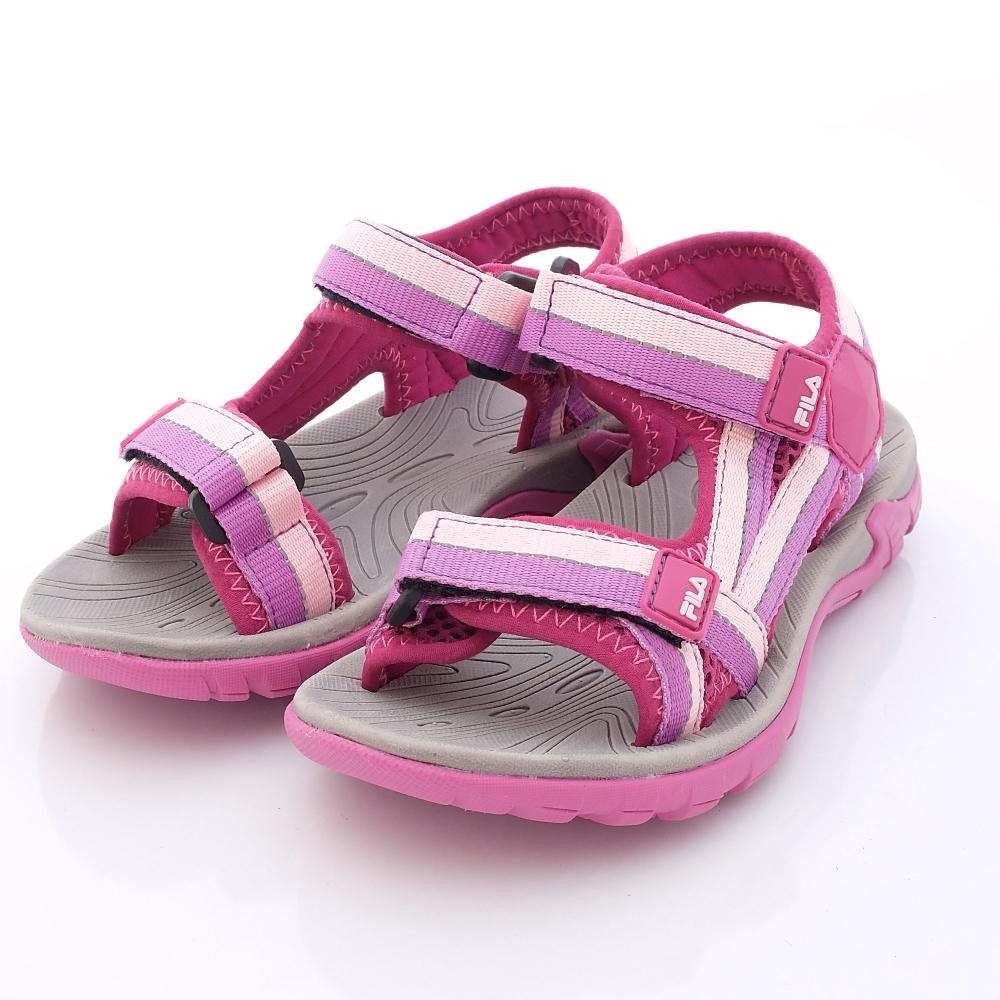 零碼-18cm FILA頂級童鞋 運動涼鞋款 434P-959紫粉