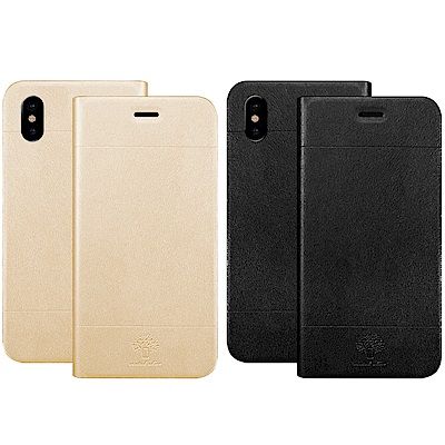 Metal-Slim Apple iPhone XS 高仿小牛皮TPU皮套