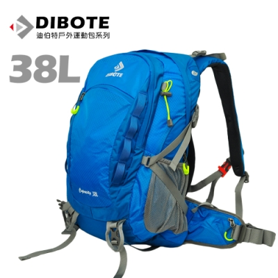 迪伯特DIBOTE 極輕骨架。人體工學38L登山背包/登山包 (藍)