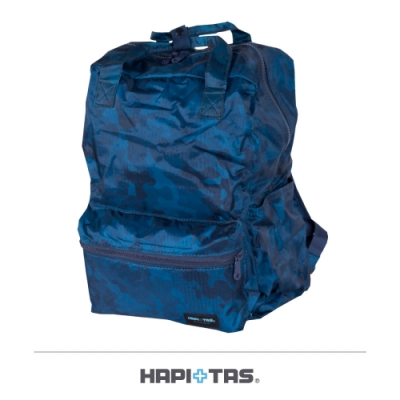 【HAPI+TAS】摺疊手提後背包─男版深藍迷彩