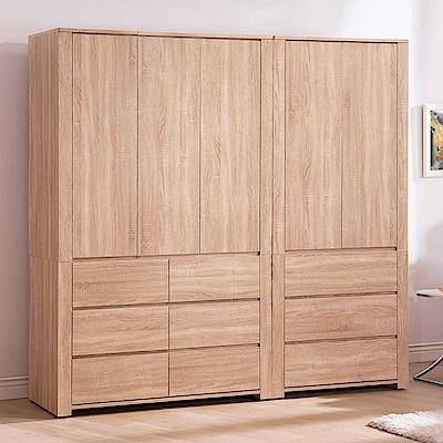 AS-哈妮7尺組合衣櫥-204x56x202cm