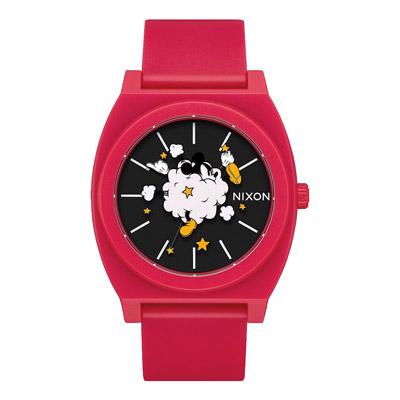 NIXON  Mickey 90週年聯名回憶片段紀念腕錶-矽膠錶帶(A1193098)