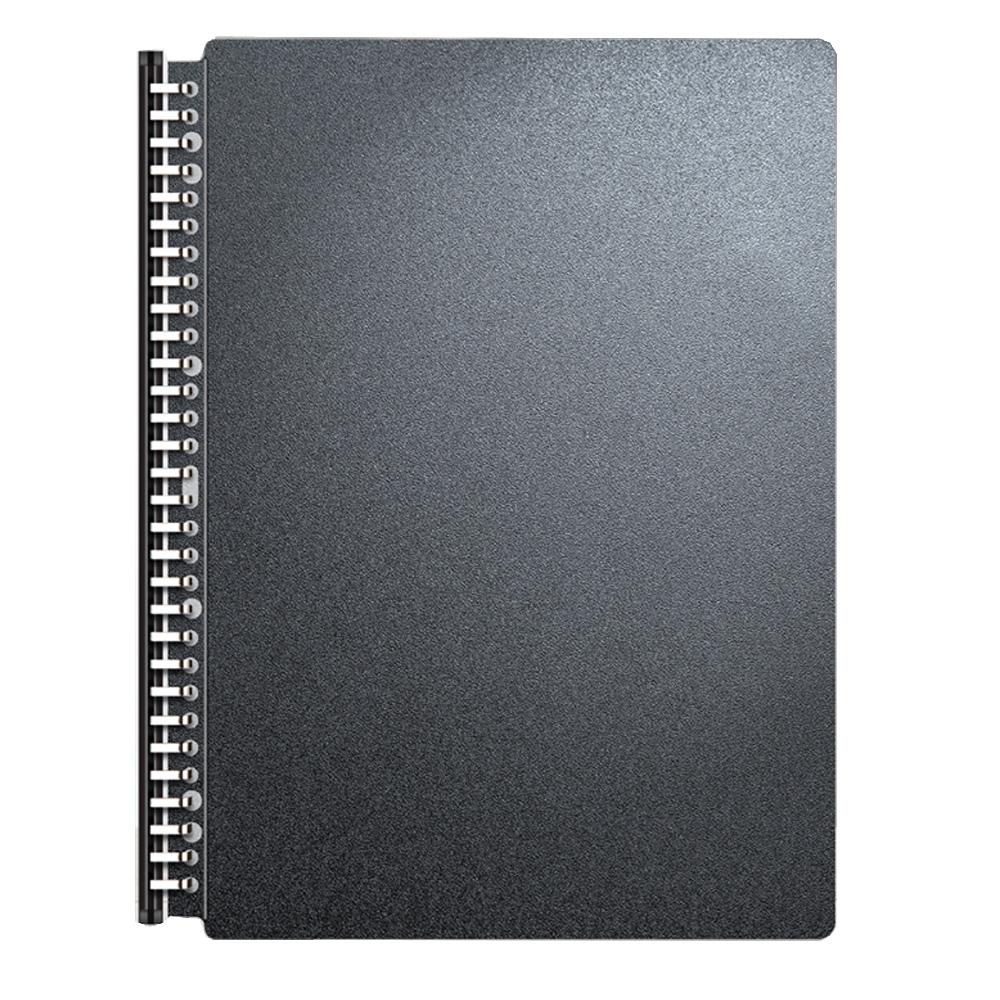 doit-great 美麗家30孔樂譜夾純黑系列 20個內頁