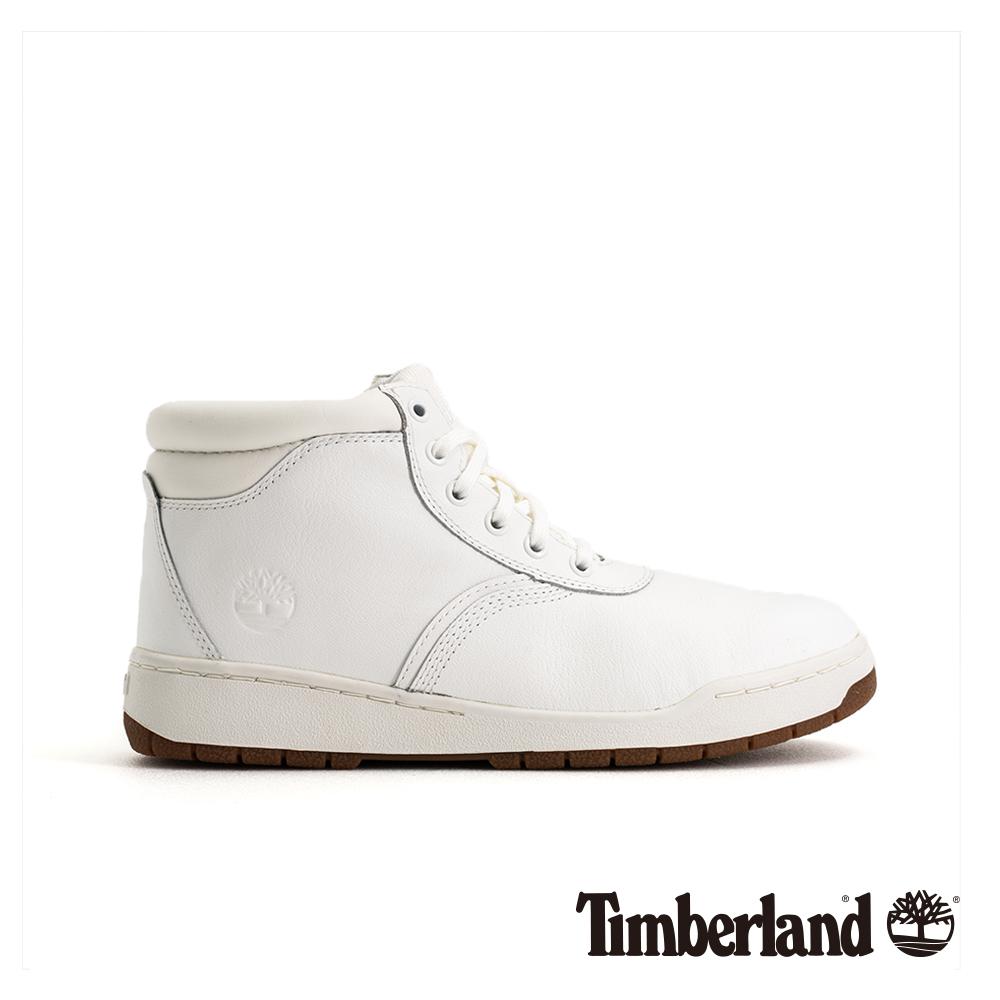 Timberland 男款白色全粒面皮革運動靴 A1OHS