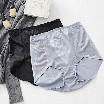 蕾黛絲-高腰修飾褲M-EL(銀灰藍)