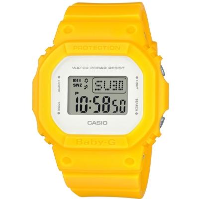 BABY-G 經典潮流數位設計概念休閒錶(BGD-560CU-9)黃-40mm