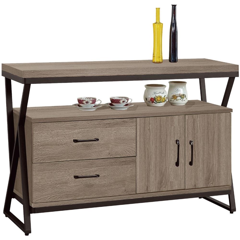 文創集 賽芙亞時尚4尺木紋餐櫃/收納櫃-120x40x82cm免組