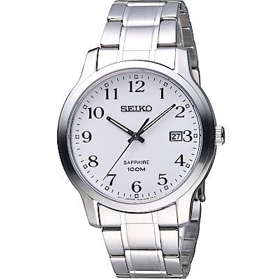 SEIKO 精工 經典設計都會時尚男錶-銀 7N42-0GE0X