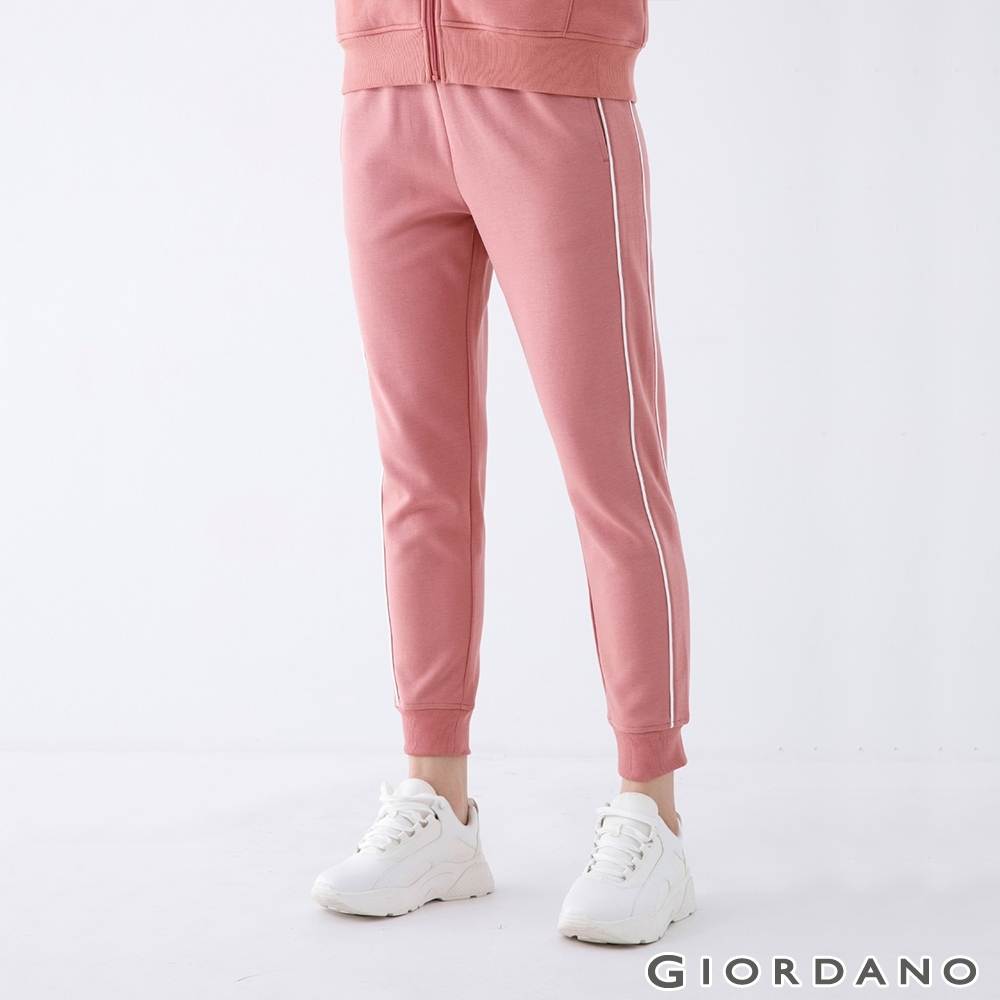 GIORDANO 女裝針織運動束口褲 - 21 梣木粉紅