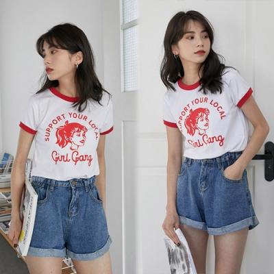 【韓國K.W.】(預購)獨賣隨性自在牛仔短褲-1色