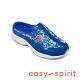 Easy Spirit-seTRAVELTIME500 真皮舒適花紋懶人休閒拖鞋-藍色 product thumbnail 1