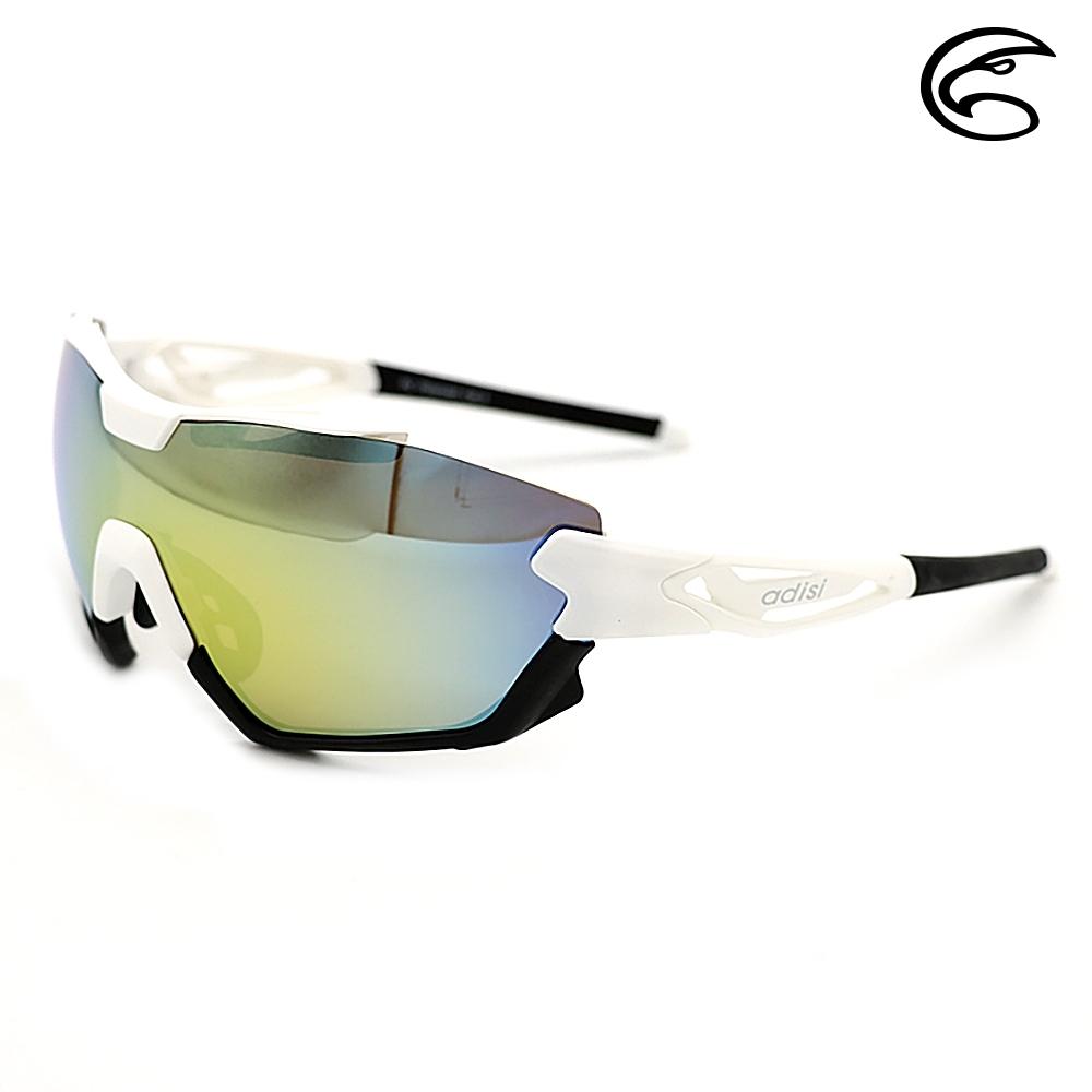 ADISI 偏光太陽眼鏡 AS20048 / 白黑框(金色片)