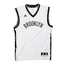 adidas愛迪達布魯克林籃網隊白黑籃球球衣
