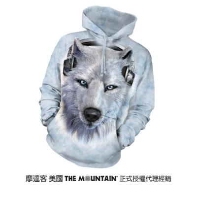 摩達客 美國進口The Mountain DJ白狼  長袖連帽T恤