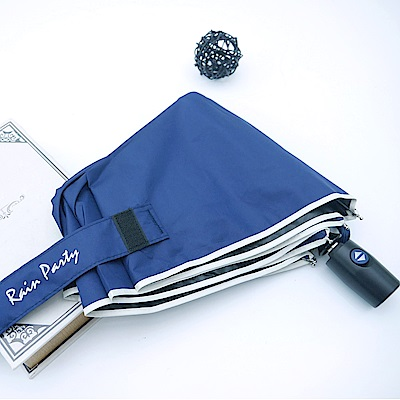 好傘王 不透光黑膠輕大自動傘2.0版-深藍色