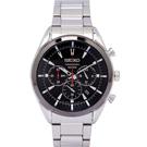 SEIKO 自我品味時尚男性手錶(SSB089P1)-黑面/44mm