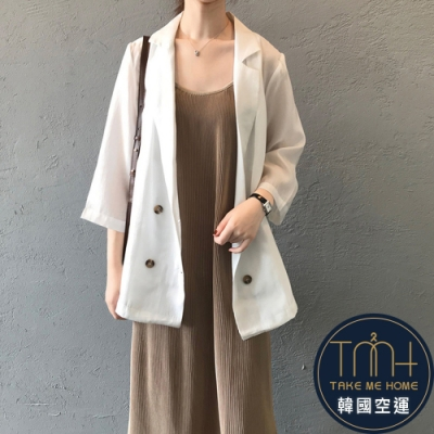 韓國空運 夏季薄款西裝外套-3色-TMH