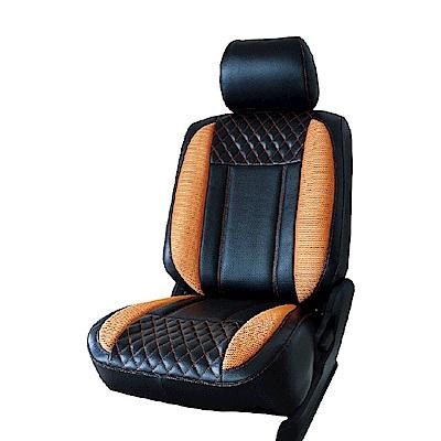 【葵花】量身訂做-汽車椅套-日式合成皮-展翅配色A-露營車款-1+2排
