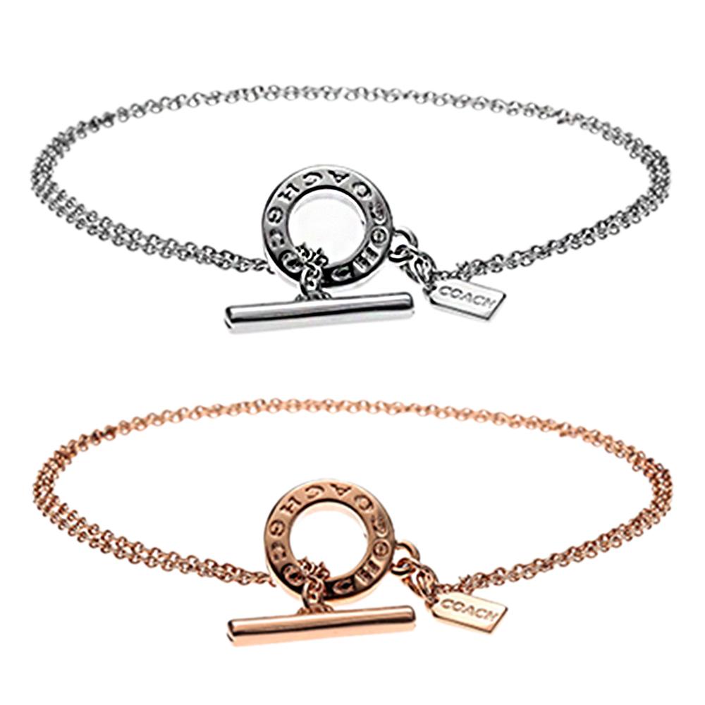 COACH 時尚流行T扣雙圈手環(兩色)COACH