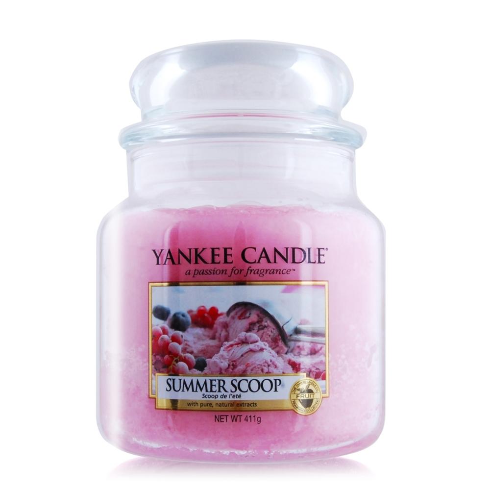 (即期品)YANKEE CANDLE香氛蠟燭-沐夏 Summer Scoop(411g)-期效202203
