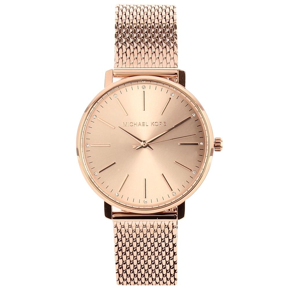 Michael Kors Pyper玫瑰金米蘭鋼帶女腕錶(MK4340)