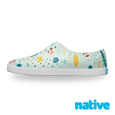 native JERICHO PRINT 女鞋-海岸藍x北歐綠園