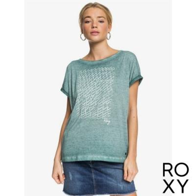 【ROXY】SUMMERTIME HAPPINESS 針織T恤 灰綠