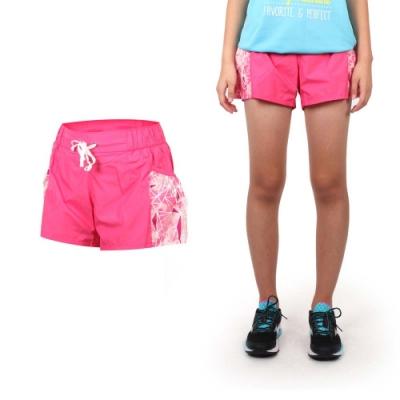 MIZUNO 女平織短褲-路跑 慢跑 運動 健身 戶外 休閒 美津濃 格紋紫粉紅