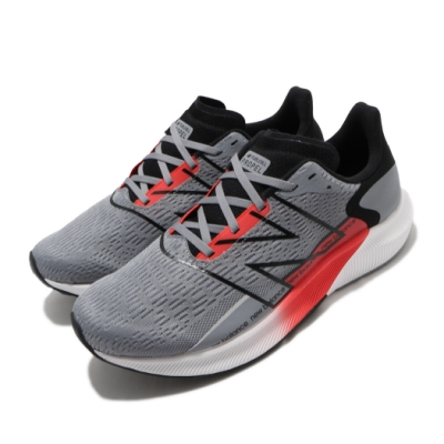 New Balance 慢跑鞋 Fuelcell Propel 寬楦 男鞋 紐巴倫 輕量 透氣 路跑 避震 健身 灰 紅 MFCPRWR22E