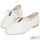 Ann'S超柔軟綿羊皮-芭蕾蝴蝶結兩穿穆勒平底便鞋-米白 product thumbnail 1