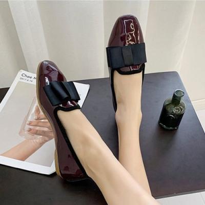 KEITH-WILL時尚鞋館 時尚穿搭機能唯美主義樂福鞋-酒紅