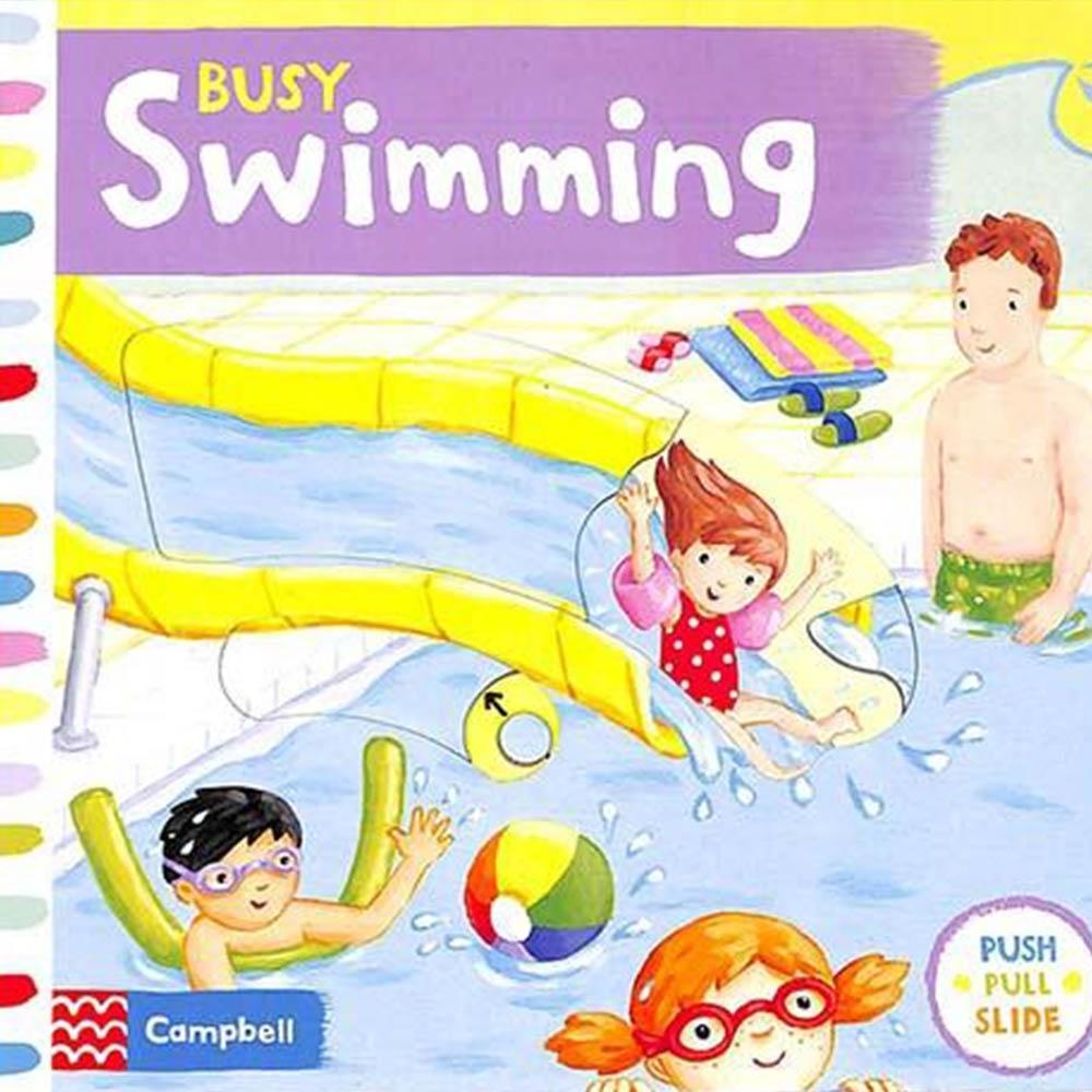 Busy Swimming 歡樂的泳池硬頁操作拉拉書