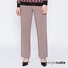 獨身貴族 淡漠女子挺版直筒寬管西裝褲(2色)