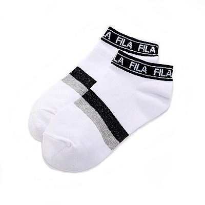 FILA功能變化棉質踝襪-白 SCS-5003-WT