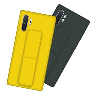 三星 Galaxy Note 10+ 強力磁吸 純色 立架 支架手機殼 黃色款 (Samsung Note 10+手機殼 Note 10+保護殼 Note 10 Plus保護套)