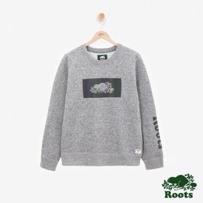 ROOTS 男裝- 全彩刷毛圓領上衣-灰色