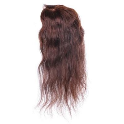 米蘭精品 假髮片真髮絲-35cm捲髮補髮塊透氣女假髮母親節禮物2色73us18