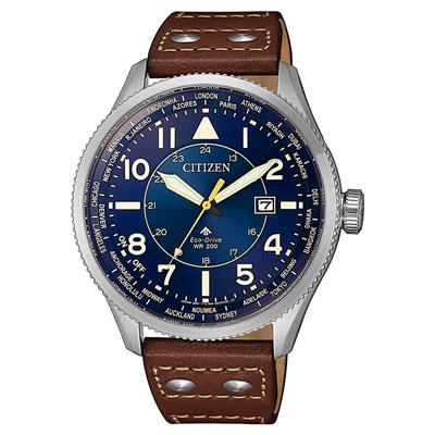 CITIZEN  PROMASTER光動能夏令時節腕錶-咖啡X藍(BX1010-11L)