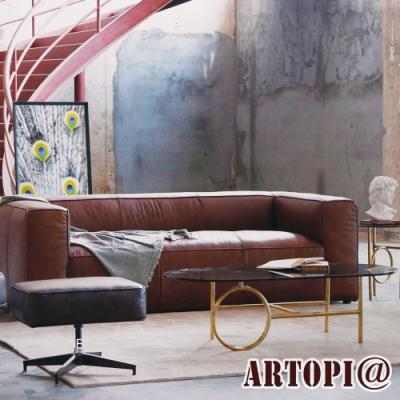 ARTOPI_Fano法諾牛皮三人沙發 W245*D101*H69 cm