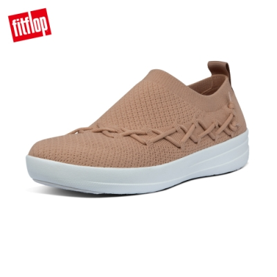 【FitFlop】CORSETTED SLIP-ON SNEAKERS休閒鞋-女(胭脂裸膚)