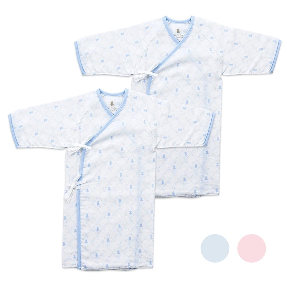 奇哥 早產兒/新生兒長版肚衣式睡袍二入(2色選擇)