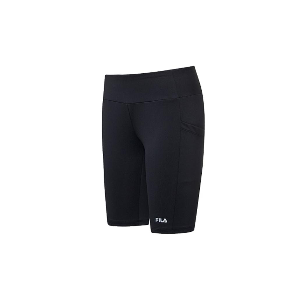 FILA 女針織短褲-黑 5SHV-1319-BK