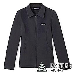 【ATUNAS 歐都納】女款薄Softshell抗風刷毛保暖外套A-G1173W黑