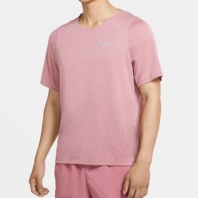 NIKE 短袖上衣 慢跑 運動 健身 透氣 男款 粉 CJ5421614 Rise 365