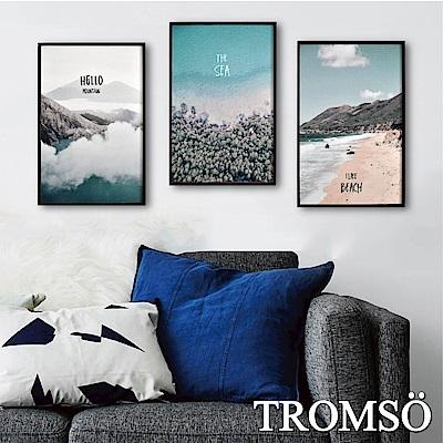 TROMSO 北歐生活版畫有框畫-樂活假期WA64(三幅一組)
